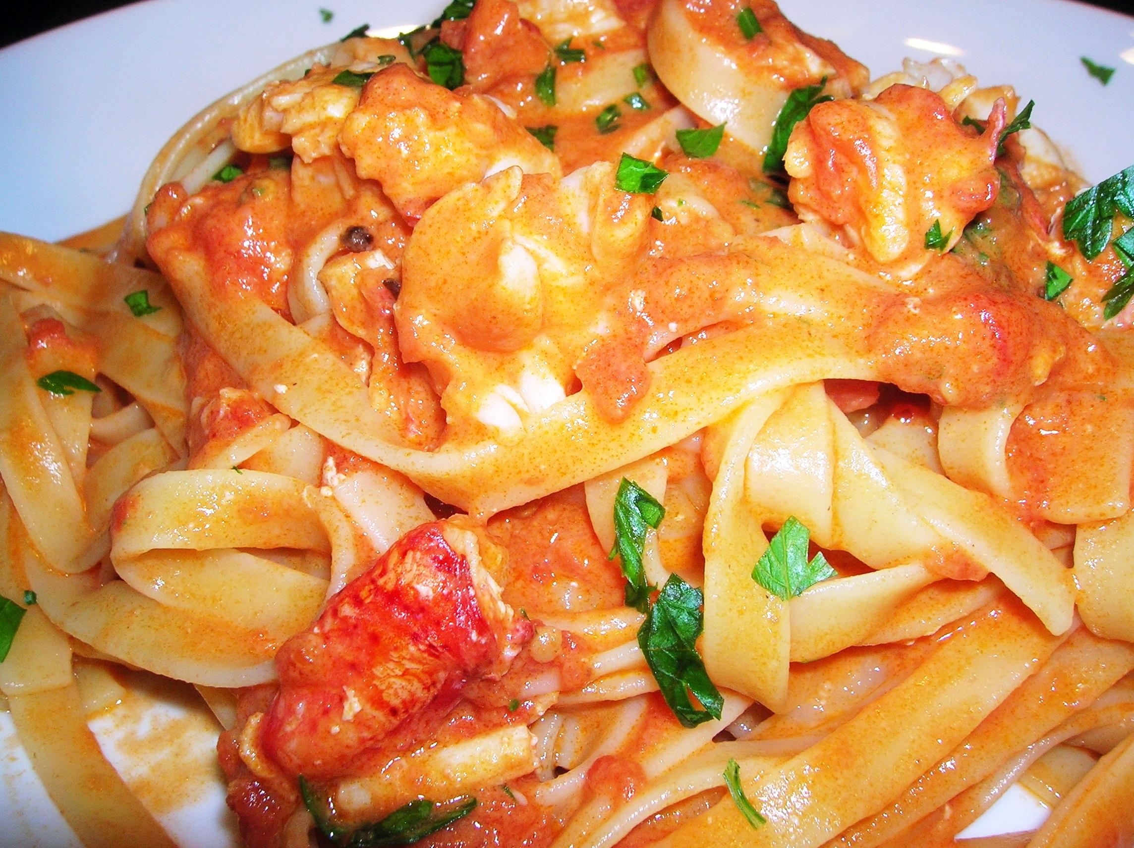 Fettucine with Pink Lobster Sauce | cookingitaliancomfortfood