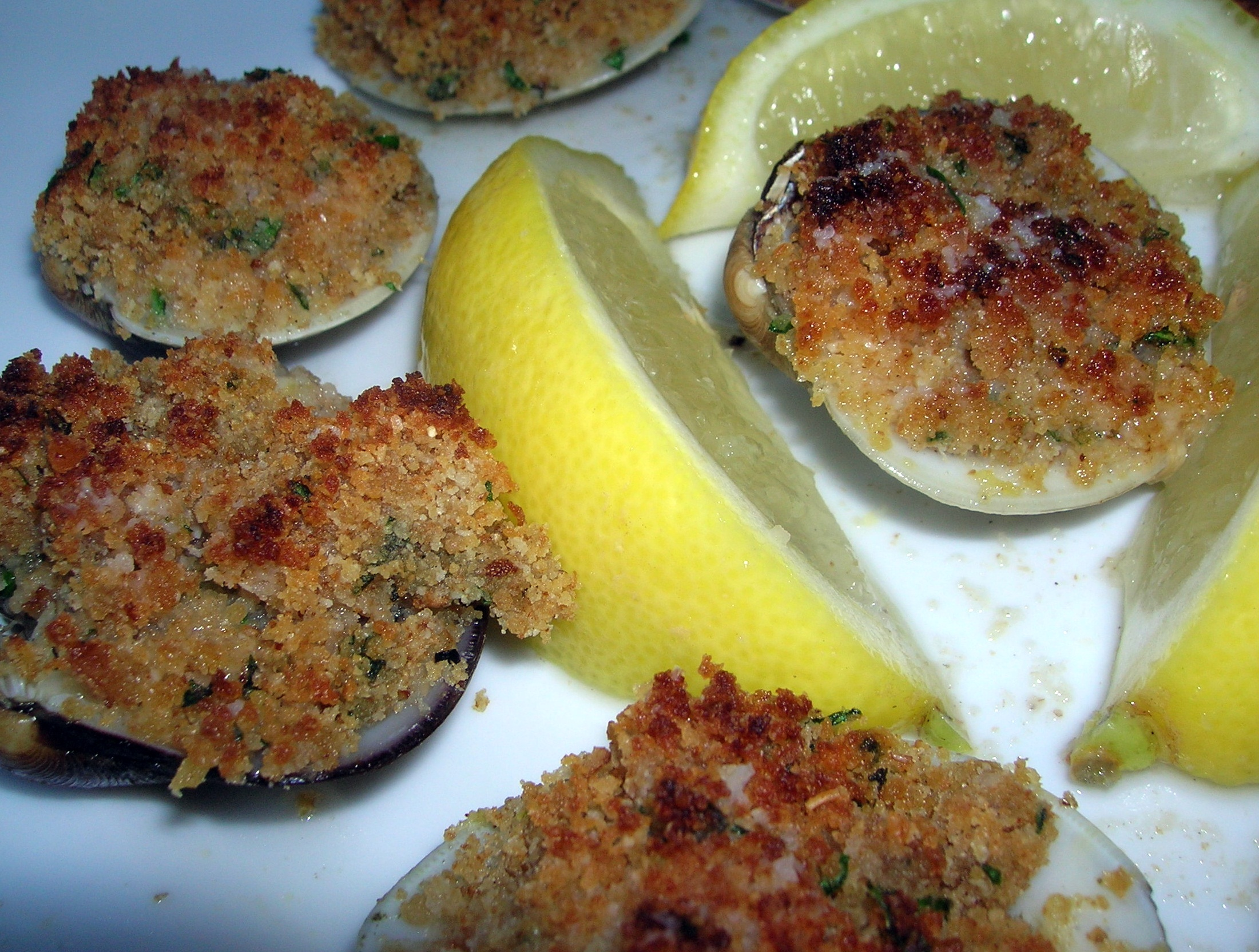Baked Clams Oreganata | cookingitaliancomfortfood