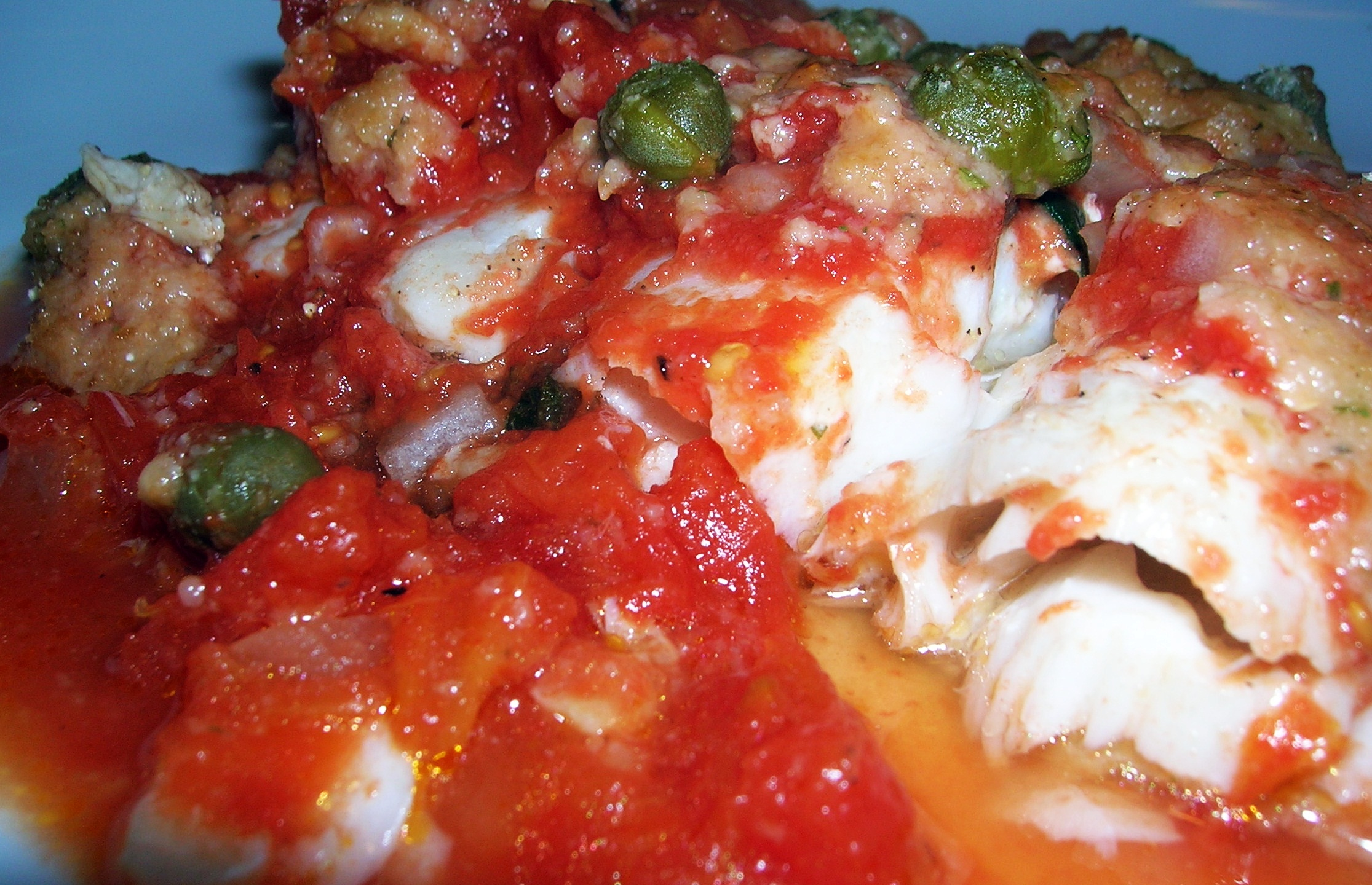 Baked Scrod with Chunky Tomatoes and Capers ...